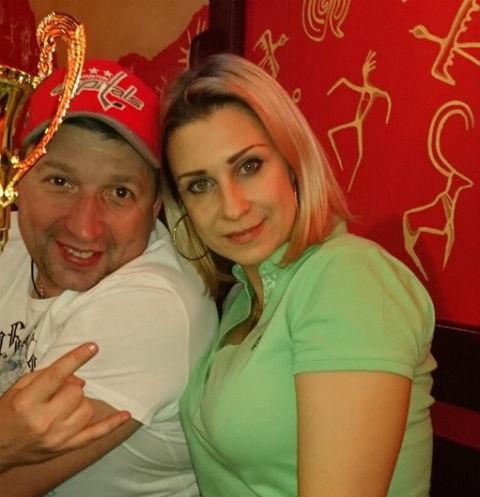 Евгения Жарикова с мужем