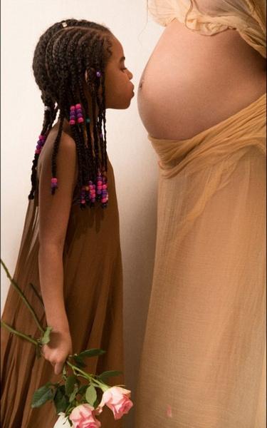 Бейонсе и ее дочь Блю Айви