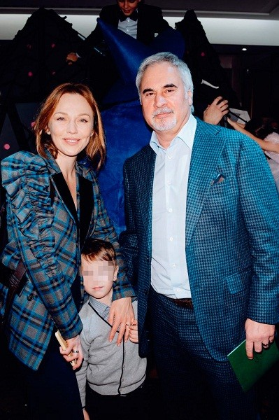 Альбина Джанабаева, Валерий Меладзе с сыном Лукой
