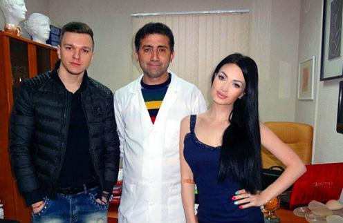 Антон Гусев, хирург Гайк Бабаян и Евгения Феофилактова