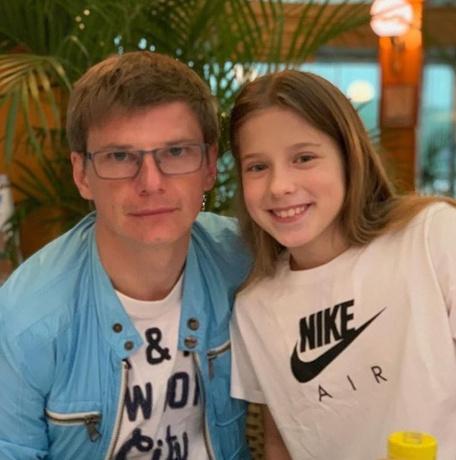 Андрей Аршавин с дочерью Яной