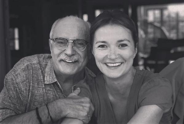 Надежда Михалкова с отцом
