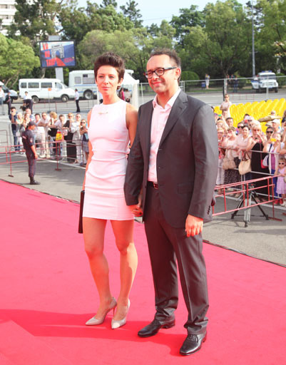Андрей Звягинцев с женой