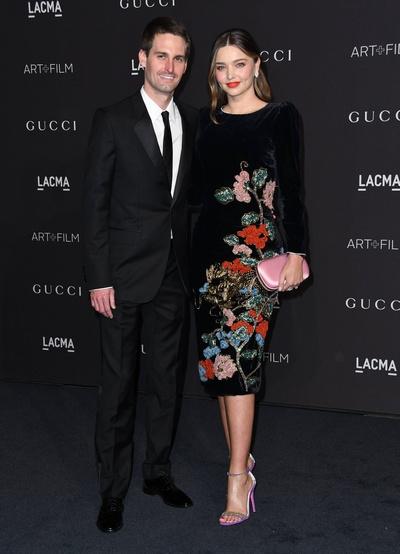 Миранда Керр с супругом Эваном Шпигелем