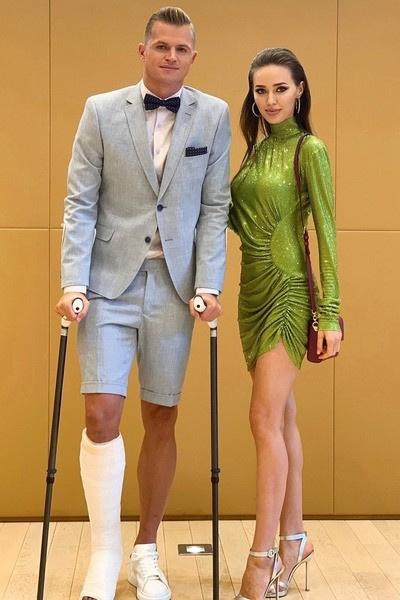 Супруг модели получил новую травму
