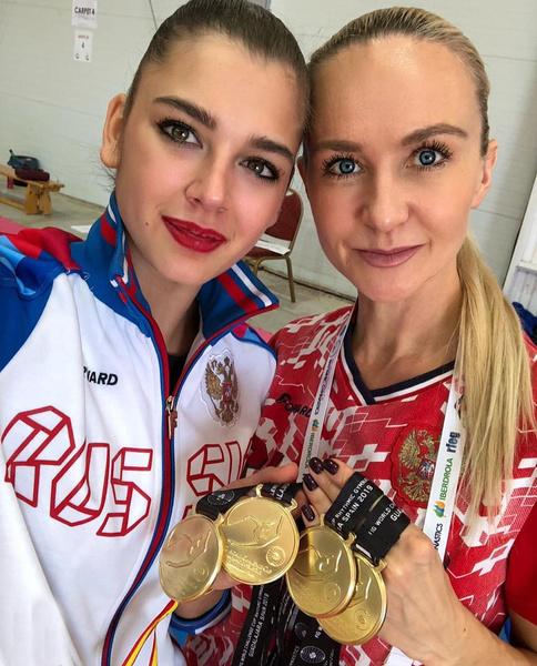 Тренер Анна Дьяченко поддержала свою подопечную