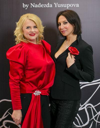Алика Смехова с дизайнером Надеждой Юсуповой