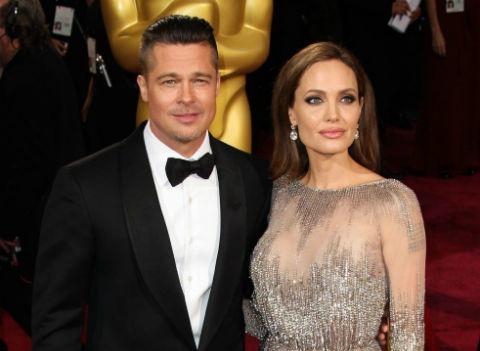 Анджелина Джоли и Брэд Питт встретились впервые за два года