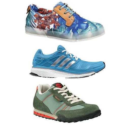 Сверху вниз: Trussardi, Adidas, Timebland