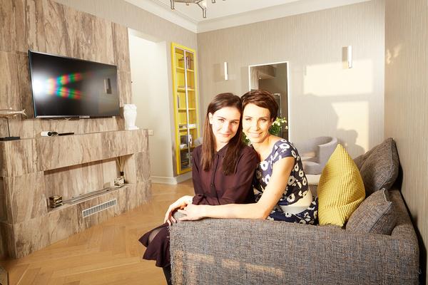 Ирина Турчинская с дочерью Ксенией