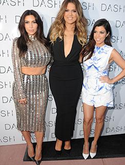 Ким Кардашьян и ее сестры Хлое и Кортни
