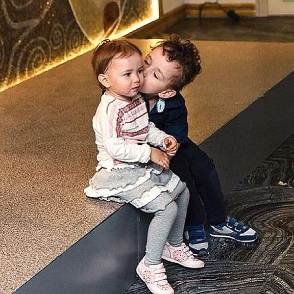 Инна родила футболисту двоих детей – сыну Диме 4 года, а дочери Милане 2 года