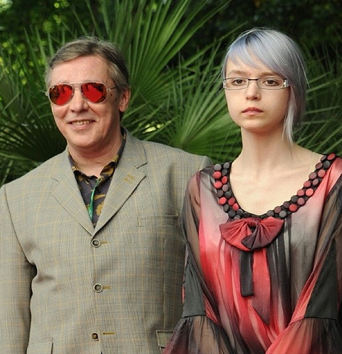 Михаил Ефремов с дочерью Анной-Марией