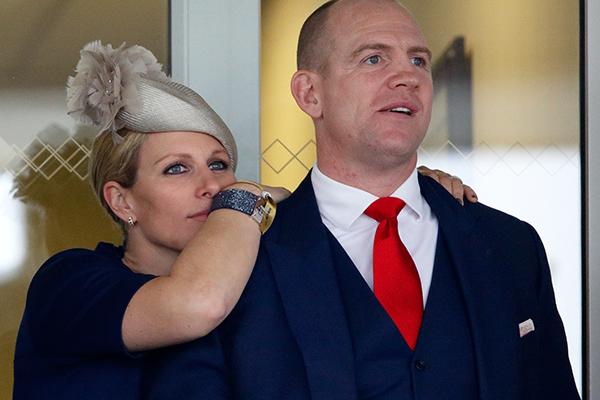 Зара Филлипс и ее муж Майк Тиндэлл