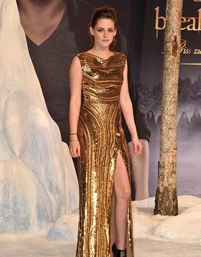 Золотая девочка - Кристен Стюарт в платье Elie Saab