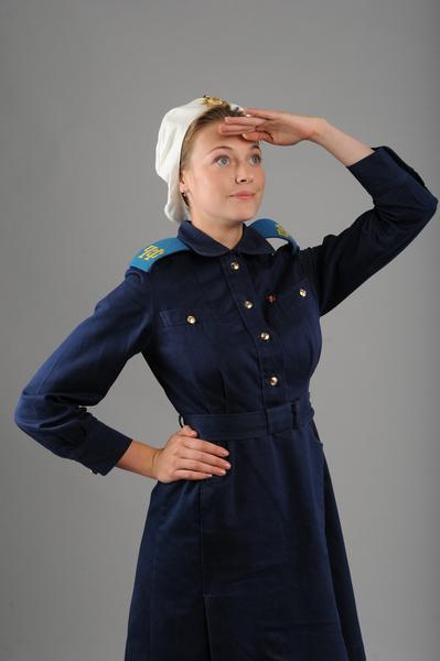 Александра Никифорова в военной форме