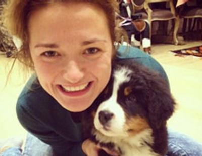Надежда Михалкова получила в подарок щенка