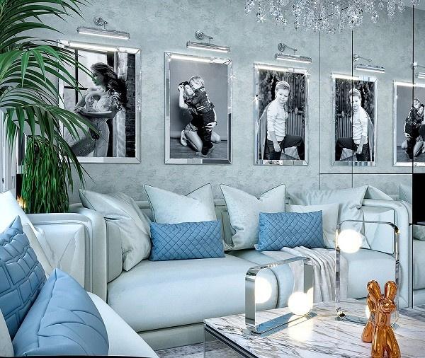 Так будет выглядеть гостиная в новых апартаментах Евгении