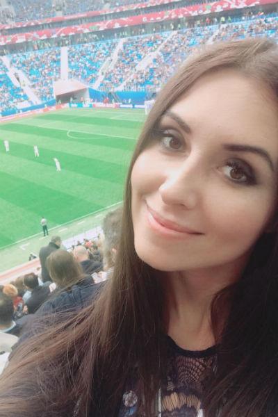 Журналистка посетила несколько матчей в рамках Кубка конфедераций