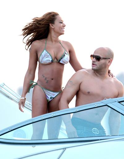 Мел Би с мужем Стефаном Белафонте