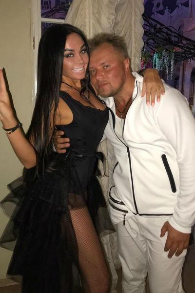 Марина с экс-солистом группы «Турбомода» Александром Поповым