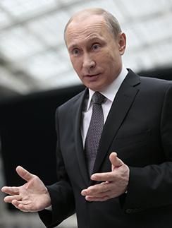Владимир Путин на Прямой линии