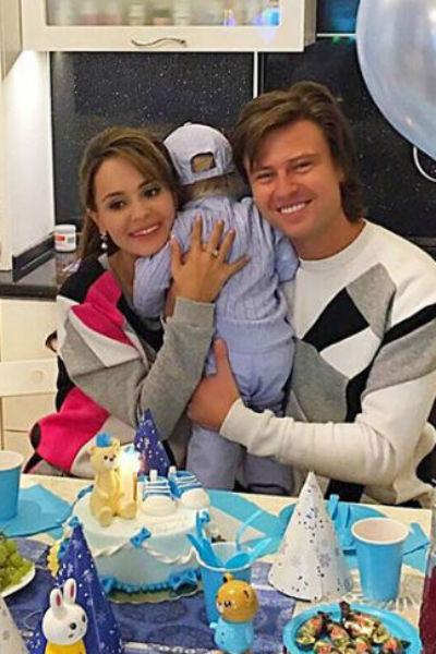 Прохор Шаляпин и Анна Калашникова с сыном