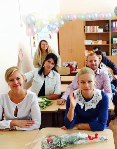 Юлия Пересильд сама села за парту
