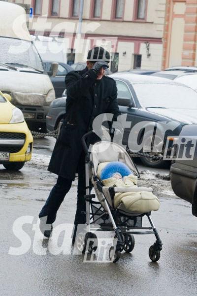 Михаил Боярский с внуком