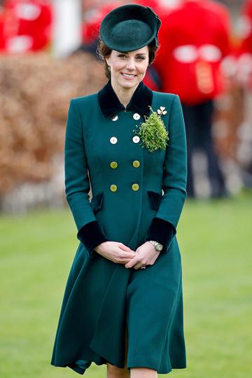 Кэтрин на ежегодном параде ирландских гвардейцев в честь Дня Святого Патрика