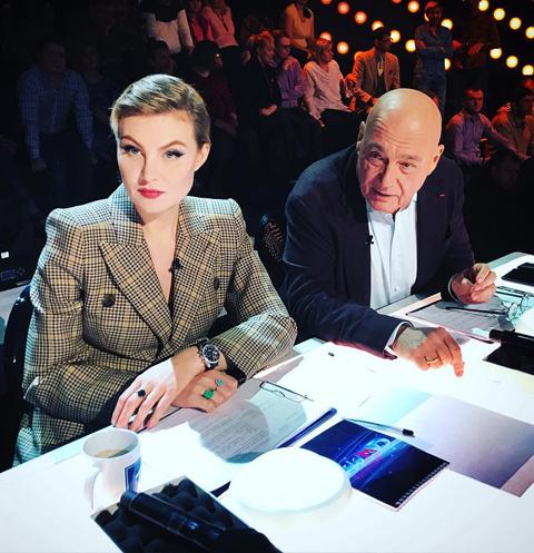 Рената Литвинова и Владимир Познер