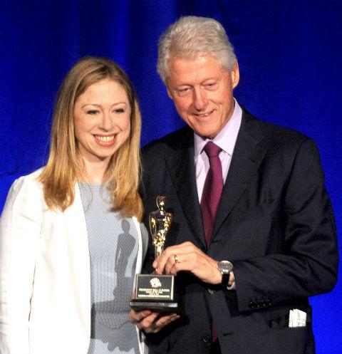 Билл Клинтон с дочерью Челси