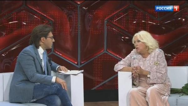 Людмила Поргина рассказывает Андрею Малахову о ДТП, произошедшем в феврале этого года