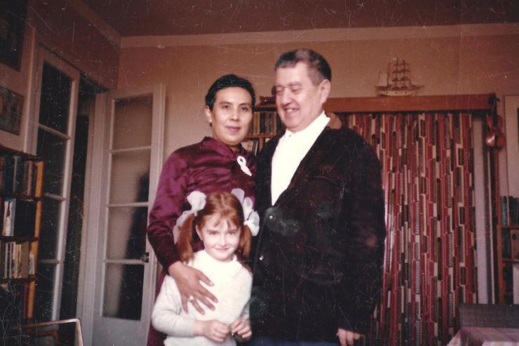 Ксения с отцом