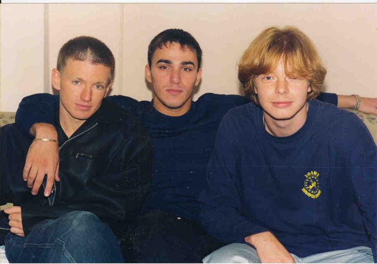 Игорь Сорин вместе с коллегами по группе «Иванушки International», Кириллом и Андреем