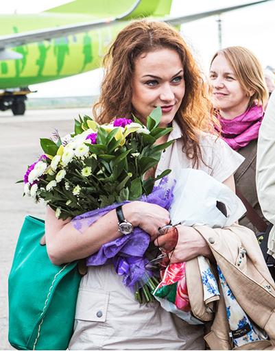 Марию Бересеневу сразу по прилету поздравили с днем рождения