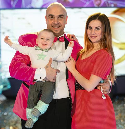 Глеб и Ольга Жемчуговы с сыном Михаилом