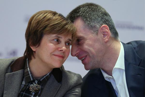 Михаил Прохоров с сестрой Ириной