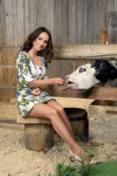 Софи быстро нашла общий язык с коровой Агриппиной