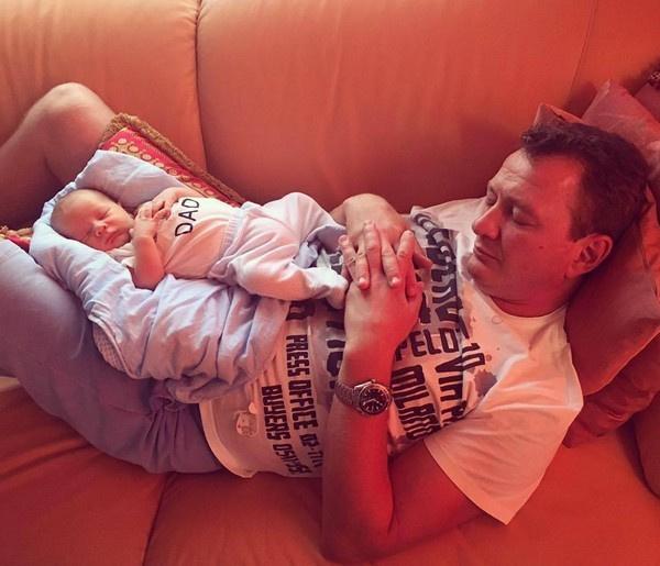 Марат Башаров с сыном