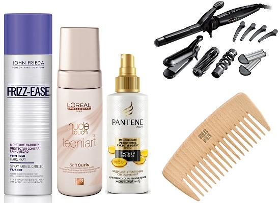 John Frieda Лак для волос, L'Oreal Professionnel Мусс для волос, Pantene Pro-V Несмываемый спрей для густоты волос, Remington Мультистайлер S8670, Marlies Moller Гребень для волос