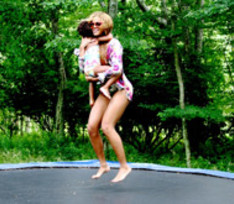 Бейонсе прыгает от счастья