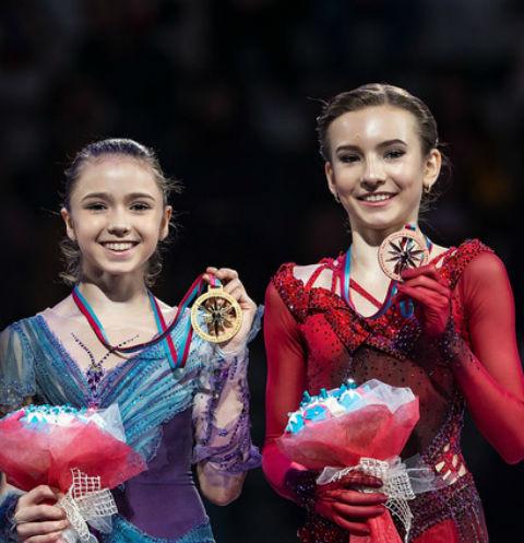 Камила Валиева и  Дарья Усачева