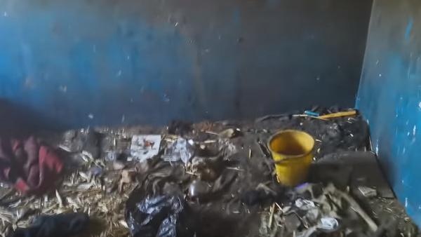 Дети жили среди мусора