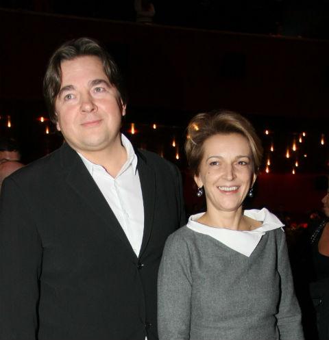 Константин Эрнст с бывшей супругой Ларисой
