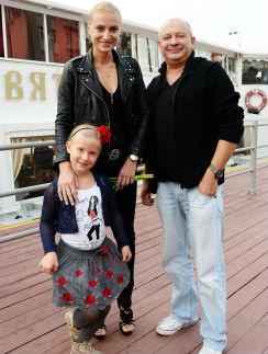 Дмитрий Марьянов с Ксенией и ее дочерью