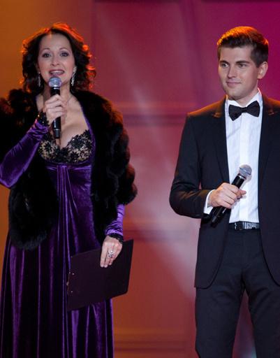 Ведущие концерта Ольга Кабо и Дмитрий Борисов