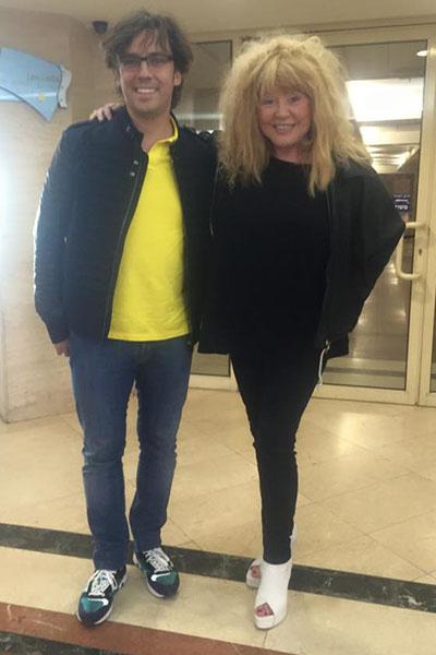 Постройневшая Алла Пугачева и ее муж Максим Галкин