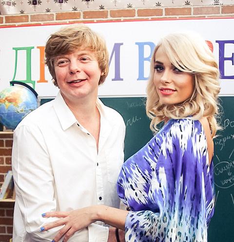Андрей Григорьев-Апполонов с экс-супругой