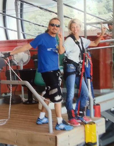 Екатерина Архарова с инструктором